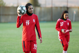 Iran women's national football team prepares to compete in the qualification matches of the 2022 AFC Women's Asian Cup, Isfahan, Iran, July 22, 2021.