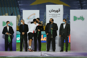 The final of the Hazfi Cup is played between Esteghlal Tehran FC and Foolad Khouzestan FC in Isfahan, Iran, August 8, 2021. Foolad won Esteghlal on penalty kicks.