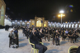 The mourning ceremony of the night of Ashura in Kerman, Iran, August 29, 2020.