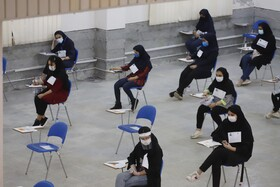 The first day of the university entrance examination, known as Konkour, Bandar-e Abbas, Iran, August 19, 2020.