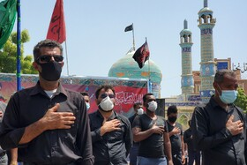 The mourning ceremony of Ashura Day in Qeshm, Iran, August 30, 2020.