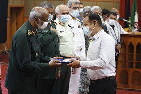 A ceremony honoring the veterans of the Sacred Defense, Bandar Abbas, Iran, September 21, 2020.
