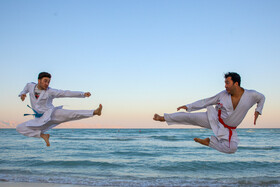 The training session of Iran national karate team on Kish Island, Iran, December 16, 2020.