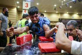 The 22nd edition of Iran's national arm wrestling championship, Mashhad, Iran, January 25, 2020.