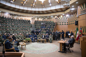 Iranian Foreign Minister Mohammad Javad Zarif delivers a speech at AJA University of Command and Staff (DAFOOS) in Tehran, Iran, February 3, 2020.