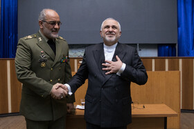 Iranian Foreign Minister Mohammad Javad Zarif (R) is present at AJA University of Command and Staff (DAFOOS) in Tehran, Iran, February 3, 2020.