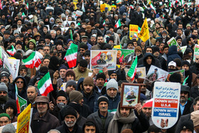 Iranians mark the 41st anniversary of the Islamic Revolution's victory, Mashhad, Iran, February 11, 2020.