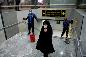 The disinfection of public places in order to curb the spread of the new coronavirus, Iran, February 25, 2020.