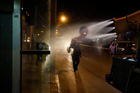 The disinfection of public places in order to curb the spread of the new coronavirus, Mashhad, Iran, March 2, 2020.