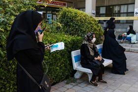 On the sidelines of the first day of the university entrance examination, known as Konkour, Mashhad, Iran, August 19, 2020.