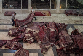 The historical carpet bazaar of Mashhad is seen in the photo, Mashhad, Iran, September 28, 2020.