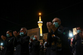 A mourning ceremony is held at the Holy shrine of Imam Reza (PBUH) on the occasion of Imam Reza's martyrdom anniversary, Mashhad, Iran, October 16, 2020.