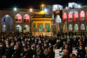 A mourning ceremony is held at the Holy shrine of Imam Reza (PBUH) on the occasion of Imam Reza's martyrdom anniversary, Mashhad, Iran, October 16, 2020.A mourning ceremony is held at the Holy shrine of Imam Reza (PBUH) on the occasion of Imam Reza's martyrdom anniversary, Mashhad, Iran, October 16, 2020.