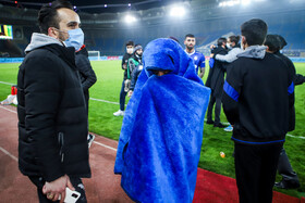 On the sidelines of the football match between Esteghlal FC and Shahr-e Khodro FC, Mashhad, Iran, December 13, 2020.