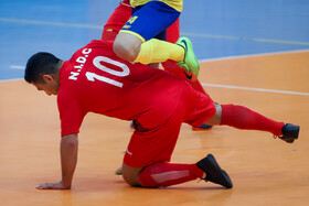 The futsal match between Farsh Ara Mashhad FSC (yellow kit) and Haffari Ahvaz FSC, Mashhad, Iran, December 22, 2020.