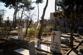 Armenian Cemetery is seen in the photo, Mashhad, Iran, December 31, 2020.