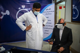 Iran's Education Minister, Mohsen Haji Mirzaei, visits an exhibition on student's innovations and achievements in Mashhad, Iran, January 5, 2021.