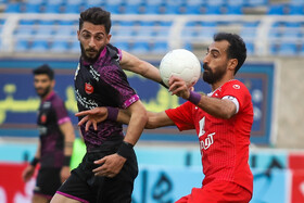 The football match between Padideh FC and Persepolis FC, Mashhad, Iran, April 3, 2021.