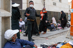 Some people wear face masks in order to protect themselves against the new coronavirus, Iran, February 24, 2020.