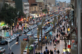 One of the streets of Ahvaz City is seen in the photo amid the fears of the new coronavirus, Iran, March 13, 2020.