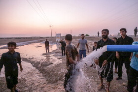 Two water supply projects are launched in Gheyzaniyeh Rural District, Khuzestan, Iran, September 6, 2020.