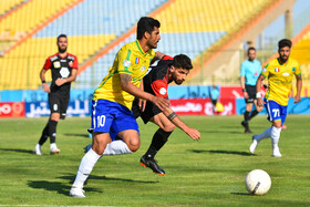 The football match between Sanat Naft FC and Persepolis FC, Abadan, Iran, March 6, 2021.