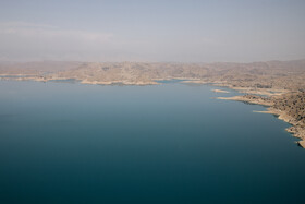 The water level of Dez Dam has been reduced due to low precipitation, Khuzestan, Iran, April 27, 2021.