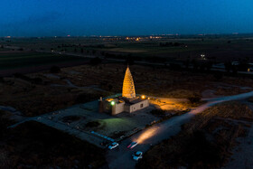 The Tomb of Yaghub Leys Safari, Dezful, Khuzestan, Iran, June 1, 2021. The tomb is one of the tourist destinations of Khuzestan Province.