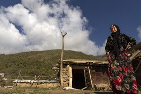 A local woman of Uraman region wearing a traditional costume is seen in the photo, Kurdistan, Iran, September 29, 2020.