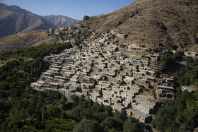 A village located in Uraman region is seen in the photo, Kurdistan, Iran, September 29, 2020.