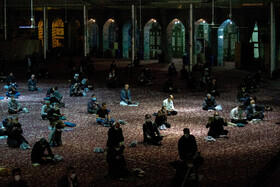 Iranians hold the first 'Laylat al-Qadr' ceremony of Ramadan Month, Arak, Iran, May 12, 2020. Muslims believe that on this night the blessings and mercy of God are abundant, sins are forgiven and supplications are accepted.
