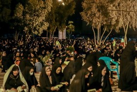 People hold the third Laylat al-Qadr Ceremony, Saveh, Iran, May 16, 2020.