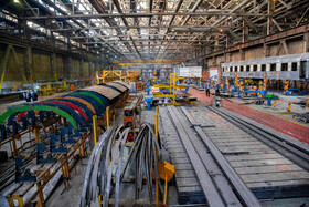 Inside of Wagon Pars Company is seen in the Photo, Arak, Iran, July 18, 2020.