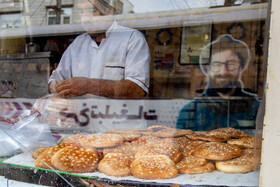 Fatir bread is seen in the photo, Arak City, Iran, August 18, 2020.