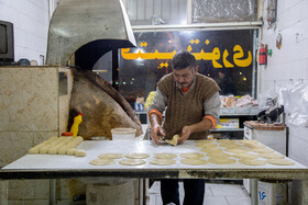 Fatir is made in a bakery of Arak City, Iran, August 18, 2020.