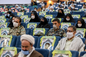 A ceremony honoring the veterans of the Sacred Defense, Arak, Iran, September 21, 2020.