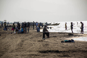 Many people are seen along the beach of Mazandaran Province amid the outbreak of coronavirus and considerable numbers of coronavirus cases in the province, Iran, August 29, 2020.