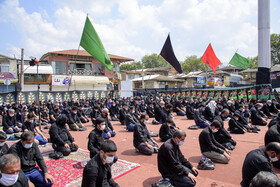 The mourning ceremony of Ashura Day in Sari, Iran, August 30, 2020.