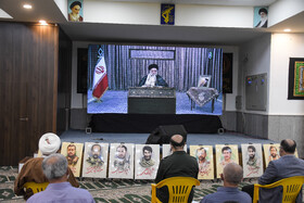 A ceremony honoring the veterans of the Sacred Defense, Babol, Iran, September 21, 2020.