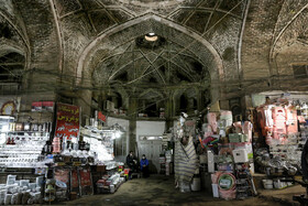Qazvin Bazaar is seen in the photo amid the fears of the new coronavirus, Iran, March 12, 2020.