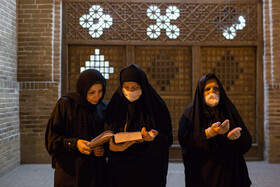 Iranians hold the second 'Laylat al-Qadr' ceremony of Ramadan Month, Qazvin, Iran, May 14, 2020.