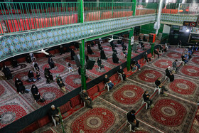 People attend a mourning ceremony during Muharram Month, Qazvin, August 29, 2020.