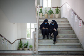 The beginning of the new school year in Qazvin, Iran, September 5, 2020.