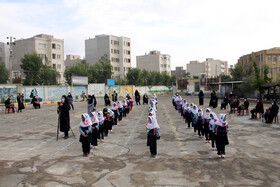 The beginning of the new school year in Semnan, Iran, September 5, 2020.