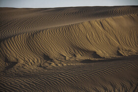 Shur Ab desert is seen in the photo, Semnan, Iran, October 2, 2020.