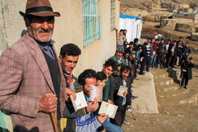 Iranians cast their vote in Iran's 11th parliamentary and Assembly of Experts elections, East Azerbaijan, February 21, 2020.