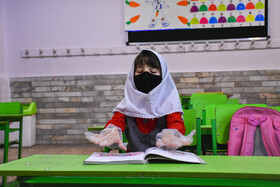 Schools are reopened in Tabriz, Iran, May 16, 2020. Going to schools is not compulsory and students who need classroom teaching can go to classes.