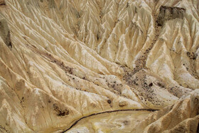 The Martian mountains of East Azerbaijan Province, Iran, June 14, 2020. There is a valley among these mountains which is 50 meters in depth.