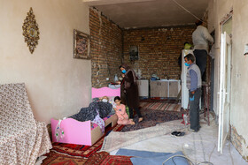 A house is renovated in a village after being hit by an earthquake a year ago, Miyaneh, East Azerbaijan, Iran, October 13, 2020.