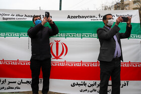 People converge on the Turkish consulate to show their protest against the Turkish President Recep Tayyip Erdogan's poem, Tabriz, Iran, December 12, 2020.